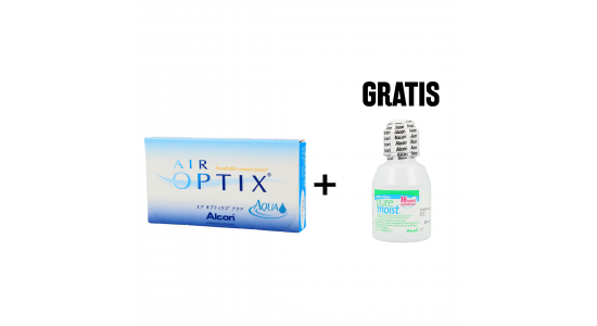 Air Optix AQUA 6 szt. + PureMoist 60 ml GRATIS