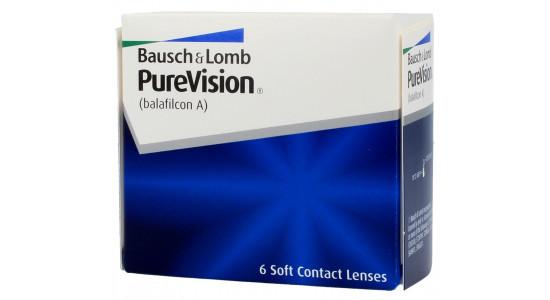 PureVision 6 szt. - moce minusowe - krzywizna 8,6