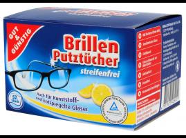 Chusteczki do okularów - 52 szt. - jednorazowe - osobno pakowane