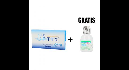 Air Optix AQUA 6 szt. WYPRZEDAŻ + PureMoist 60 ml GRATIS